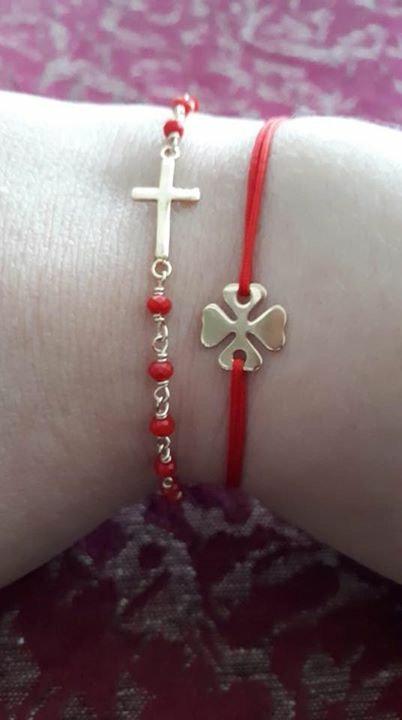 Bracelet trèfle fil