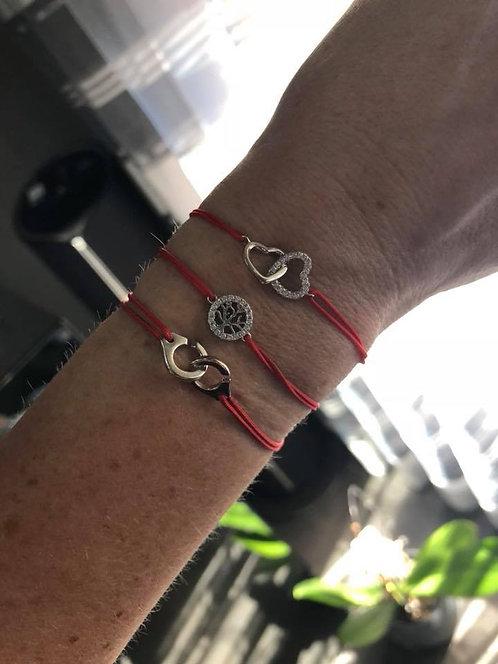 bracelet  coeur double