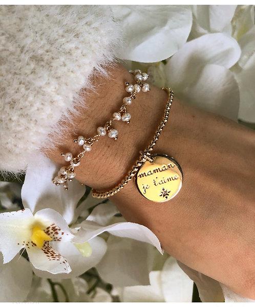 Bracelet perle guirlande