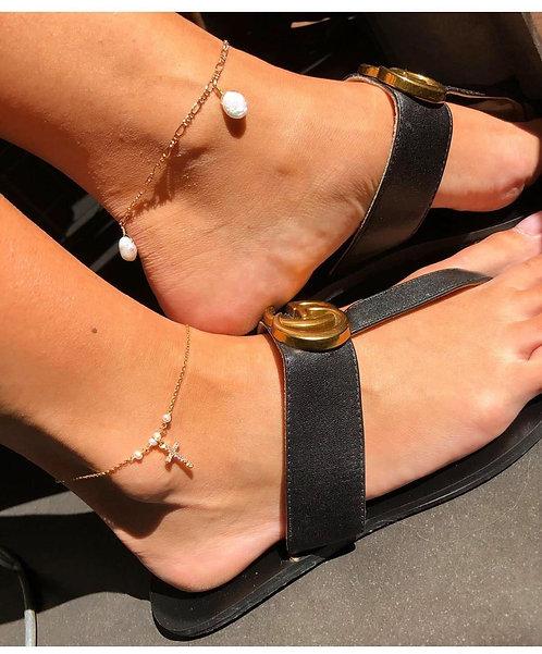 Chevillère pendouille perle