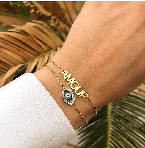 Bracelet amour oeil