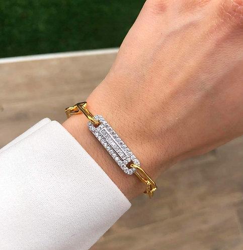 Bracelet chaine barre