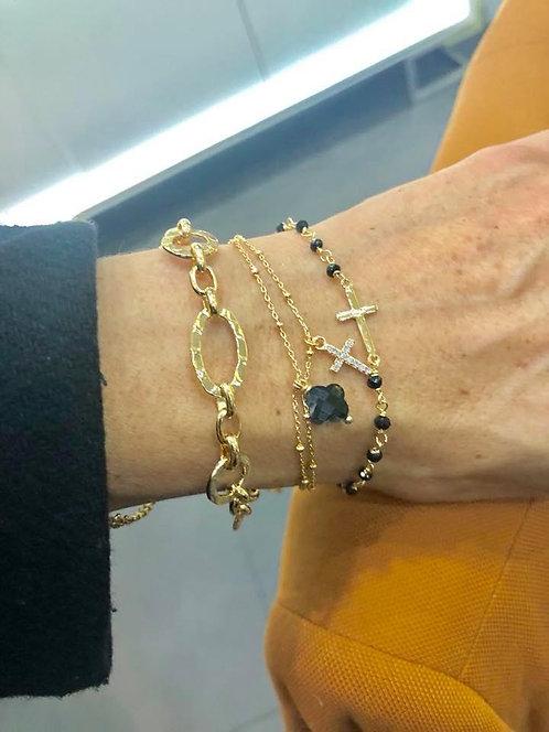 Bracelet chaine plaqué or