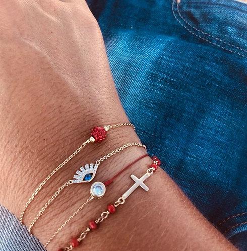 Bracelet plaqué or œil