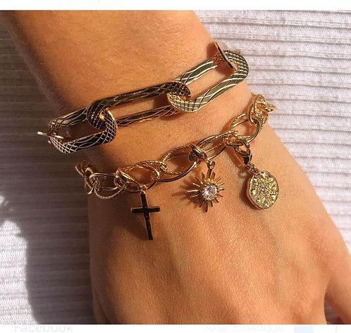Bracelet chaine 3 charm's
