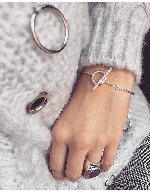 Bracelet lien argent