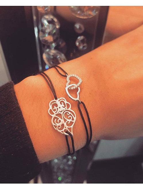 Bracelet double coeur