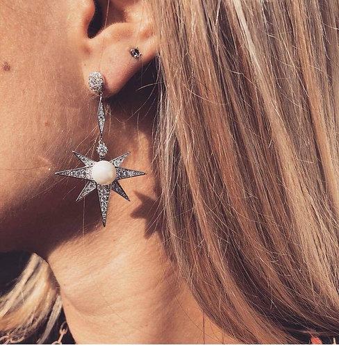 Boucle étoile perle