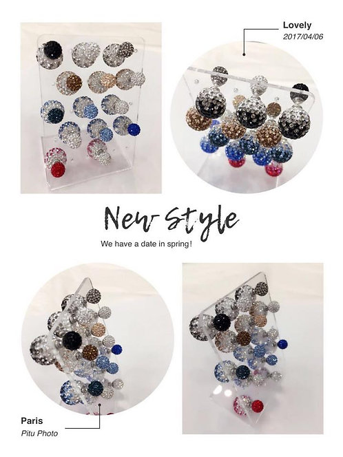 boucle double strass