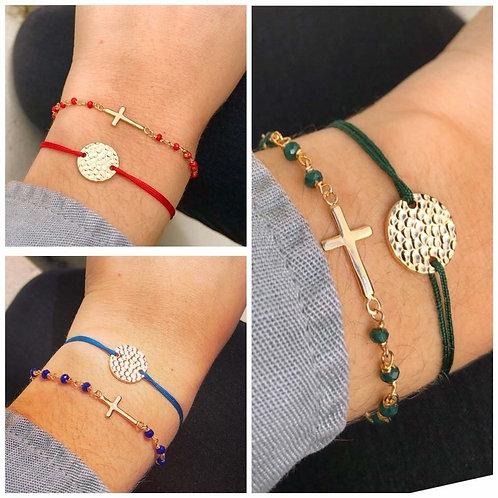 Bracelet fil martelé