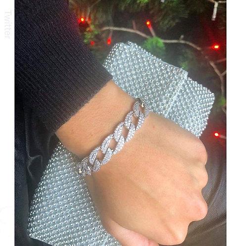 Bracelet chaine strass