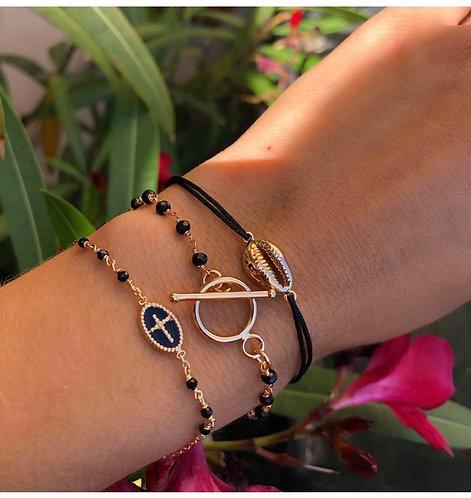 Bracelet croix perle