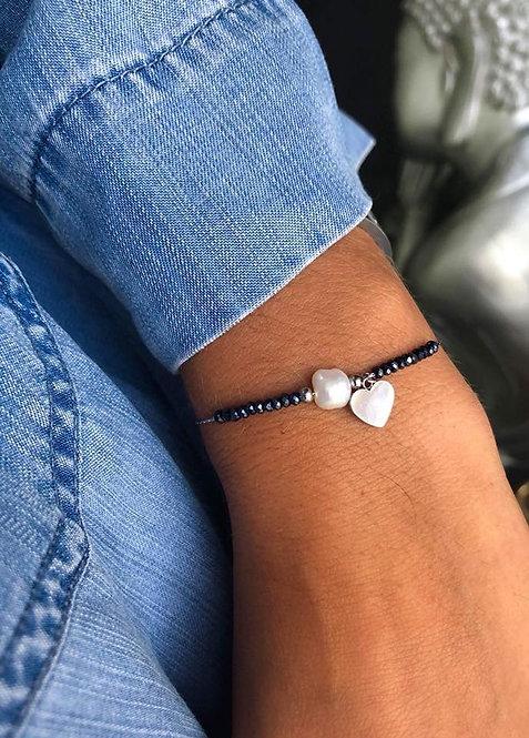 Bracelet perle cœur