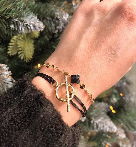 Bracelet lien martelé