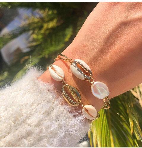 Bracelet chaine coquillage