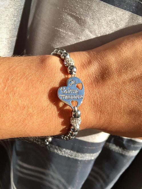 """bracelet """"Je t'aime marraine"""""""