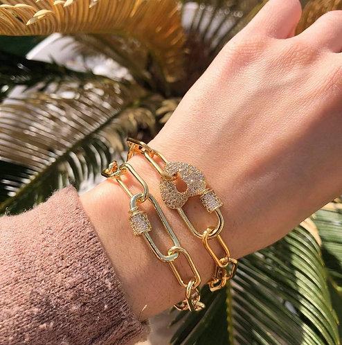 Bracelet cadenas coeur