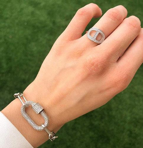 Bracelet épingle strass