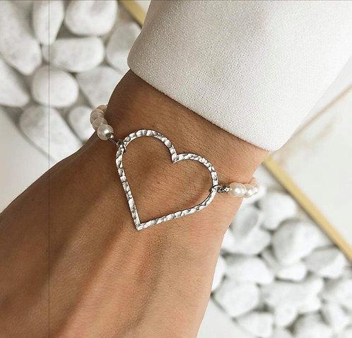 Bracelet coeur perle