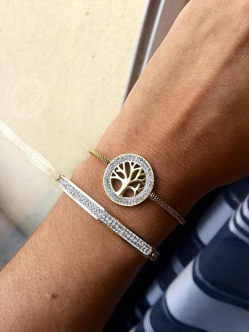 bracelet arbre de vie coulissant