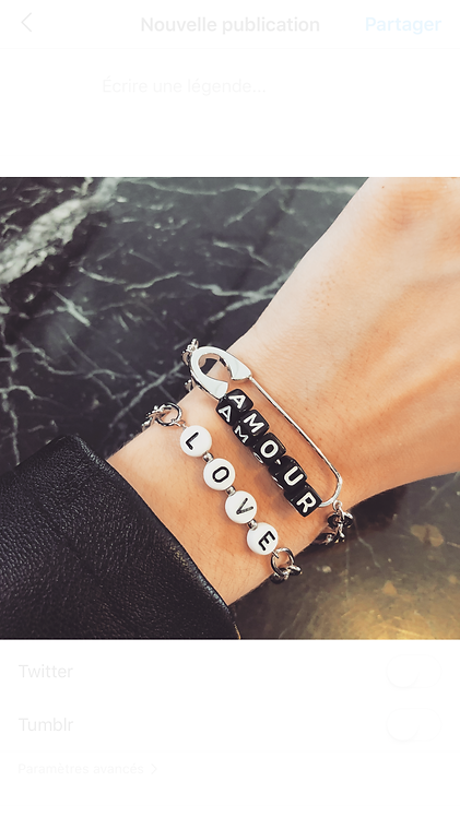 Bracelet love amour