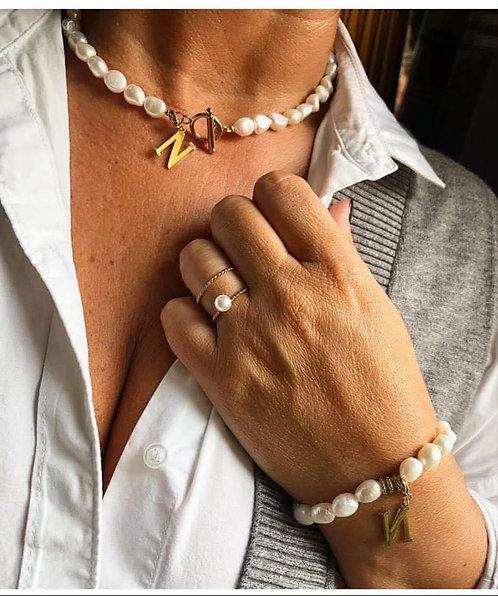 Bracelet perle lettre