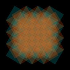 Grid1 Multi (cyan and orange)