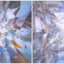 Shatter Blue Diptych
