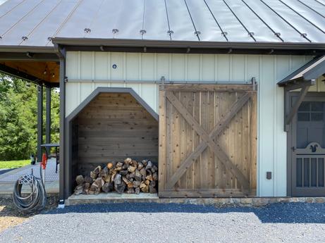 She-shed wood storage