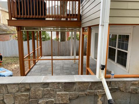 Screen porch (in progress)