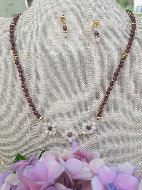 Garnet and Moonstone.. Eco-fashion