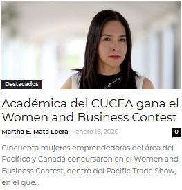 Académica del CUCEA gana el Women and Business Contest
