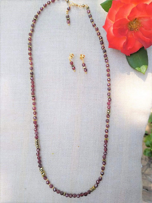Garnet. Handcraft Jewelry