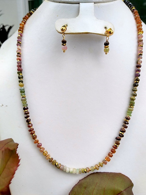 Tourmaline and Hematite. Sustainable Jewelry