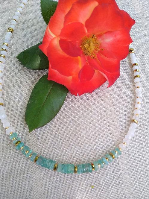 Moonstone and Aquamarine. Eco-fashion Jewelry