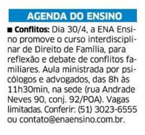 Correio do Povo 23.04.16 - Curso interdi