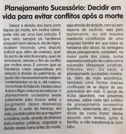Jornal da AGEA - 27.07.18 - Artigo Plane