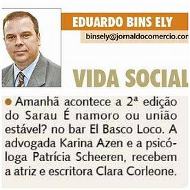 JORNAL DO COMERCIO 14.06.18 - SARAU NAMO