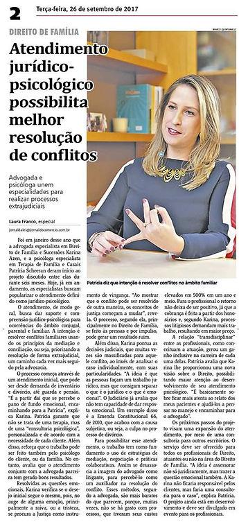 JORNAL DO COMERCIO 27.09.17 - ENTREVISTA