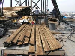 Salvaged cedar wood