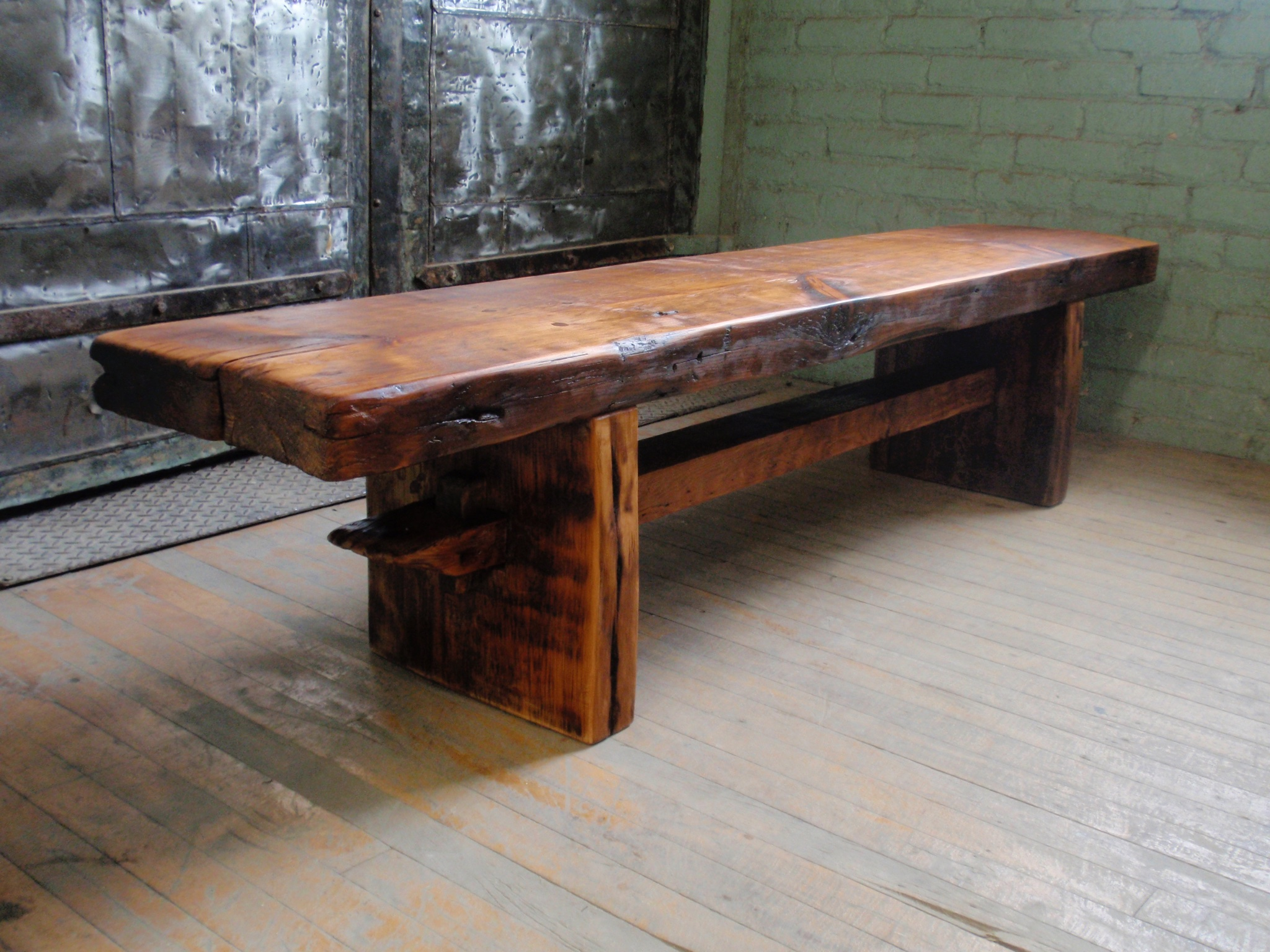 Custom rustic bench