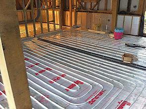 Underfloor heating install