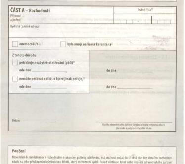 Překlady neschopenky e-mailem