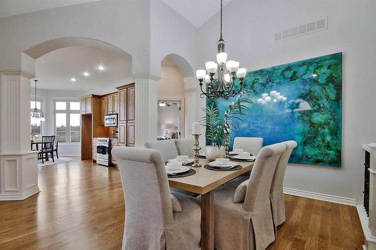 LoveLeeHomes Dining Room Staging with Bi