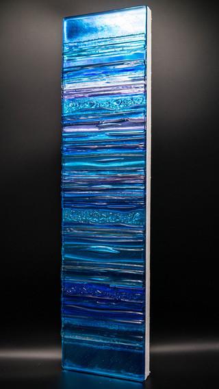 AQUA IN VIOLET - Sculpted glass Panel