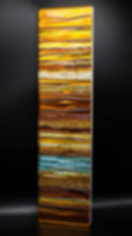 Topaz - Fused Glass Wall Panel
