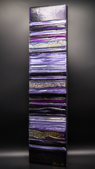 AMETHYST - Sculpted Glass Panel