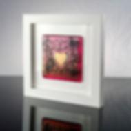 Framed glass tile - Baroque Heart