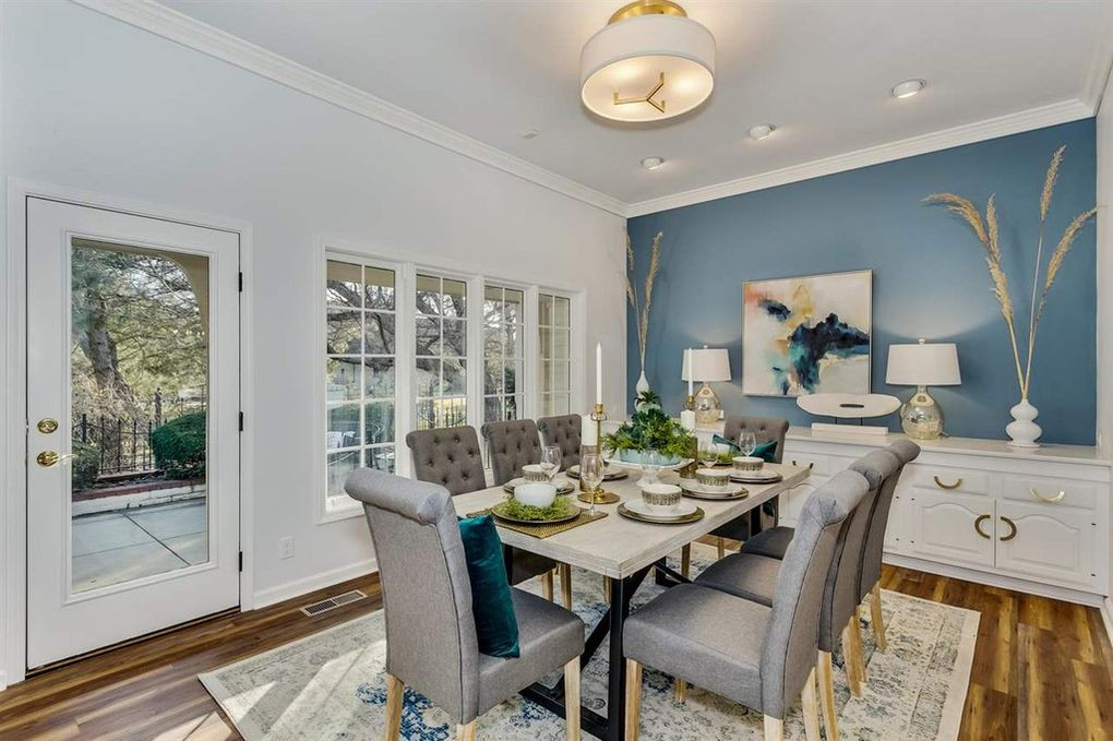 LoveLeeHomes Dining Room with Accent Wal