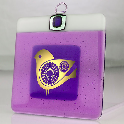 QUIRKY BIRD - Glass Plaque